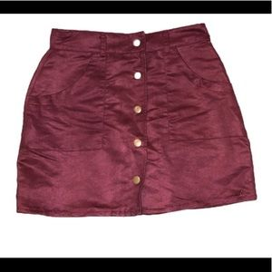 Rue21 Mini Skirt Maroon